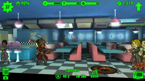 Verteidigung des Vaults in Fallout Shelter