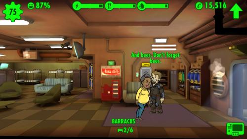 Rollenklischees in Fallout Shelter: Vergiss das Bier nicht, Schatz!