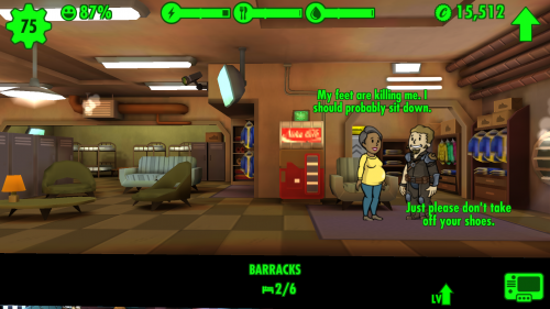 Macho-Attitüde in Fallout Shelter