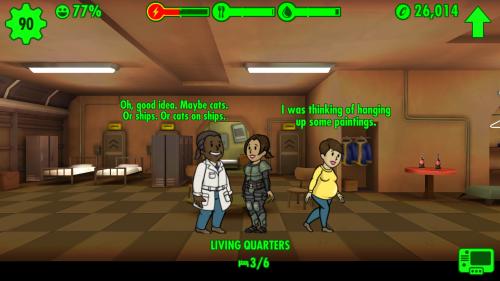 Nestbau-Klischees bei Schwangeren in Fallout Shelter