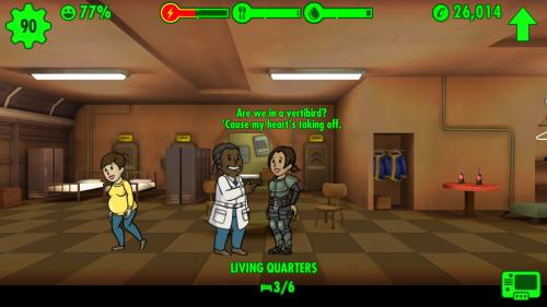 Polyamorie im Atombunker? Werdender Vater flirtet, während die werdende Mutter daneben steht mit einer anderen.